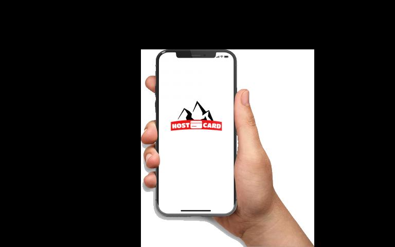 Hostcard sur mobile
